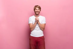 Portrait of young man with happy facial expression Stock Photography