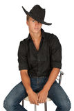 Portrait of young man with hat. Royalty Free Stock Image