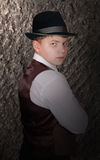 Portrait of young man in hat Royalty Free Stock Photography