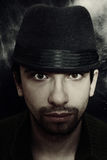 Portrait of a young man in a hat Royalty Free Stock Photography