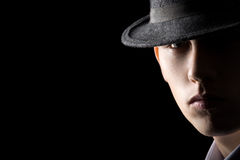 Portrait of young man in hat Royalty Free Stock Photos