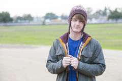 Portrait of a young man with a hat Royalty Free Stock Images