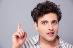 Portrait of a young man having idea Stock Images