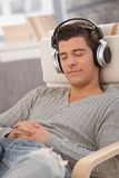 Portrait of young man with headphones Stock Photo