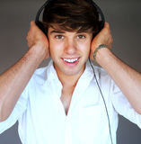Portrait of a young man with headphones Stock Photo