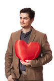 Portrait of a young man with heart shape Royalty Free Stock Photography