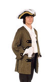 Portrait of young man in a historical costume Stock Photography