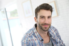 Portrait of a young man at home Royalty Free Stock Images