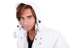 Portrait of a young man with a hood Royalty Free Stock Photography