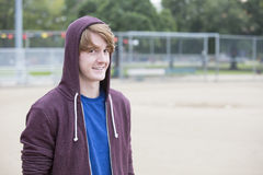 Portrait of a young man in a hoodie Royalty Free Stock Photos