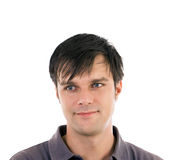 Portrait of a young man. Looking to his right Stock Images