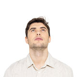Portrait of young man looking up Royalty Free Stock Image