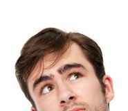 Portrait of a young man looking up Stock Image