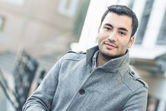 Portrait of young man in november morning Stock Photography
