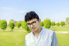 Portrait of young man outdoor ,handsome teenager. Stock Photos