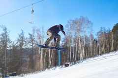 Extreme Snowboarding royalty free stock photos