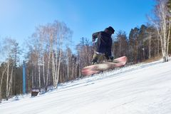 Pro Snowboarder royalty free stock images