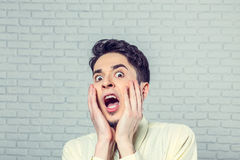 Portrait of young man screaming Royalty Free Stock Photography