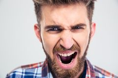 Portrait of a young man screaming Royalty Free Stock Photography
