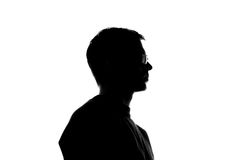 Portrait of a young man, side view Royalty Free Stock Photo