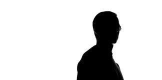 Portrait of a young man, side view Royalty Free Stock Image