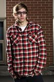 Portrait of young man with skateboard fashion Royalty Free Stock Images