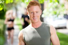 Portrait of young man smiling Royalty Free Stock Photography