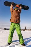 Portrait of a young man with the snowboard Stock Image