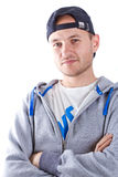 Portrait of young man in sport hat Stock Image