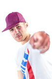 Portrait of young man in sport hat Stock Photo