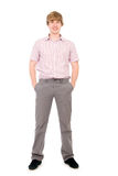 Portrait of a young man standing full length Royalty Free Stock Photos
