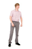 Portrait of a young man standing full length. Stock Image