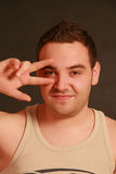 Portrait of a young man, Studio. Royalty Free Stock Photography