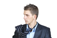 Portrait of a young man in a suit Stock Images