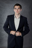 Portrait of a young man in a suit Royalty Free Stock Photo