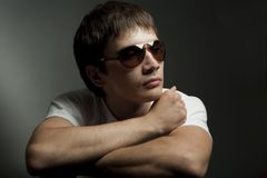 Portrait of a young man in sunglasses Stock Photography