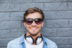 Portrait of young man in sunglasses Stock Image