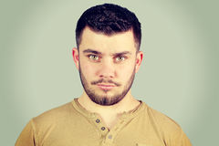 Portrait of a young man surprised Stock Images