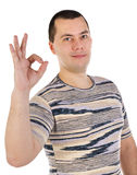 Portrait of young man with thumbs up Royalty Free Stock Photography
