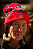 Portrait of a young man from Tibet Royalty Free Stock Image