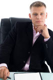 Portrait of young manager Stock Images