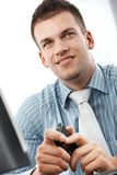 Portrait of young manager in office Royalty Free Stock Image