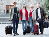 Portrait of young and mature couple with baggage Stock Photography