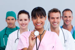 Portrait of a young medical team Stock Photography