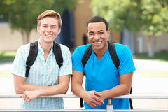 Portrait young men outdoors royalty free stock photo