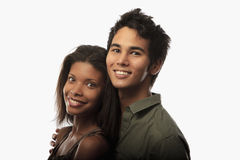 Portrait of a young mixed couple Royalty Free Stock Photo