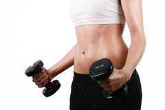 Portrait of young mixed fitness woman Stock Photo