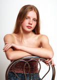 Portrait of young model. With long hair Stock Photo