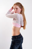 Portrait of young model. With long hair Royalty Free Stock Photo