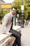 Portrait of young modern businessman Royalty Free Stock Photo